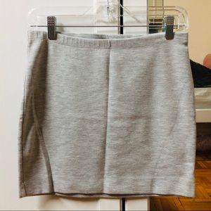 Gray jersey mini skirt